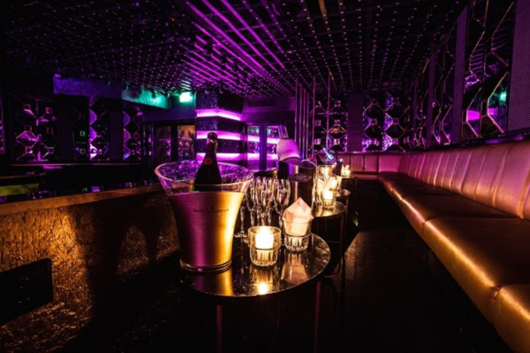 John Doe nightclub Amsterdam view of the lounge area tables bottle service