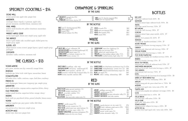 Joy District nightclub Chicago bottle menu