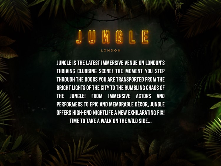 Party at Jungle VIP nightclub in London. Find promoters for guest list in Clubbable