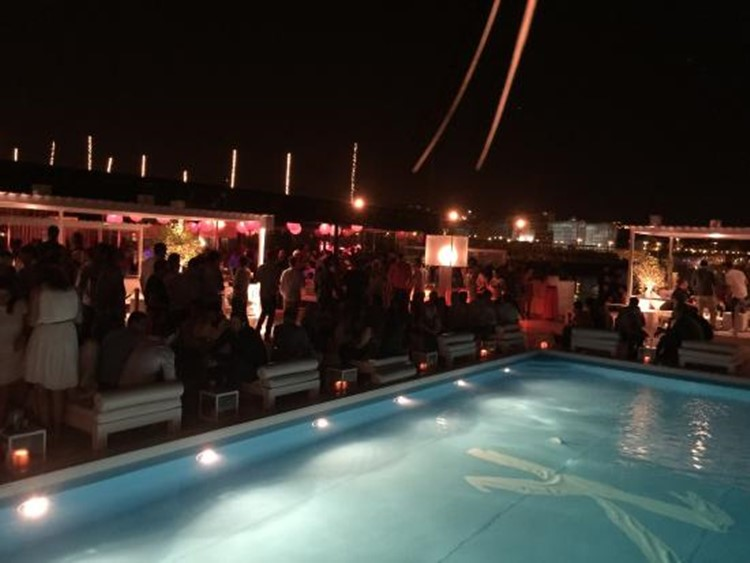 K Urban Beach nightclub Lisbon view of the swimming pool lounge area