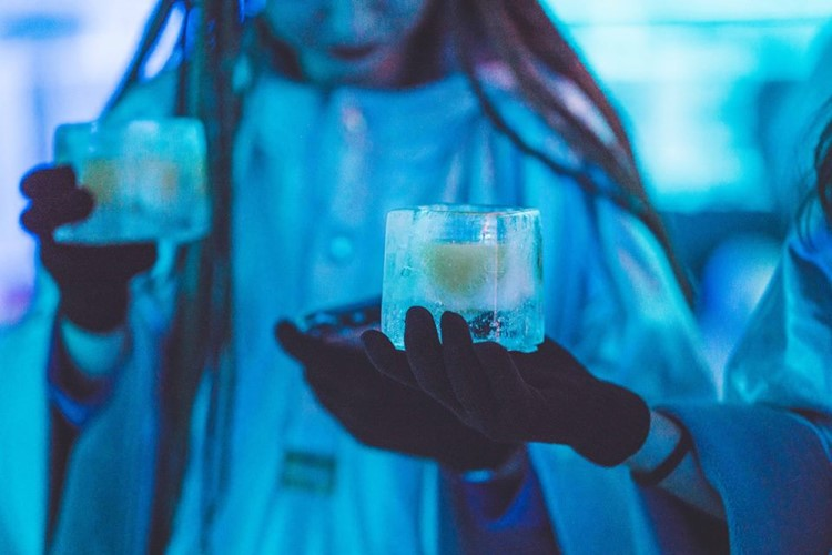 Karlovy Lazne nightclub Prague ice room drinks