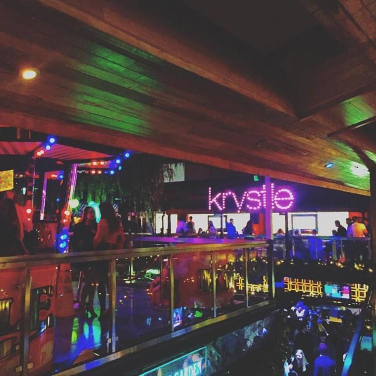 Krystle nightclub Dublin view of the party crowd dance floor music