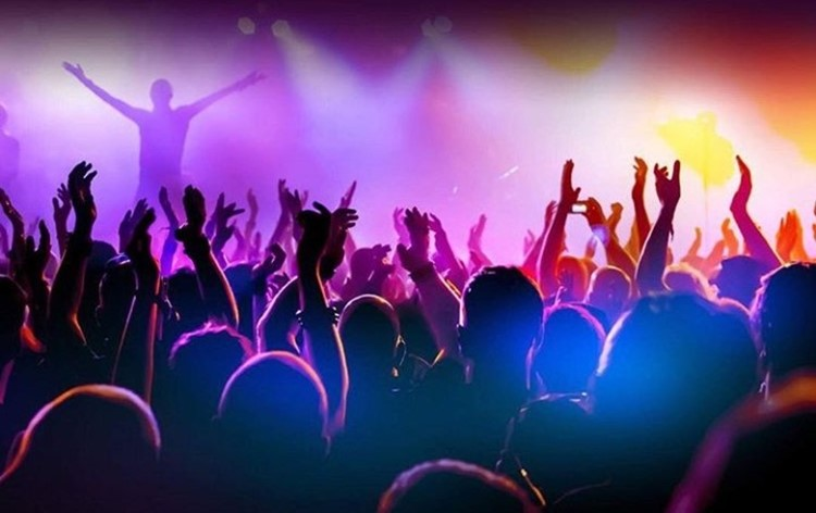 Le Panic Room nightclub Paris crowd having fun dancing at concert party
