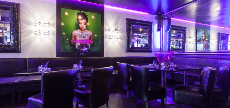 le quai nightclub st tropez view of the club at night with colored lights luxury interior design