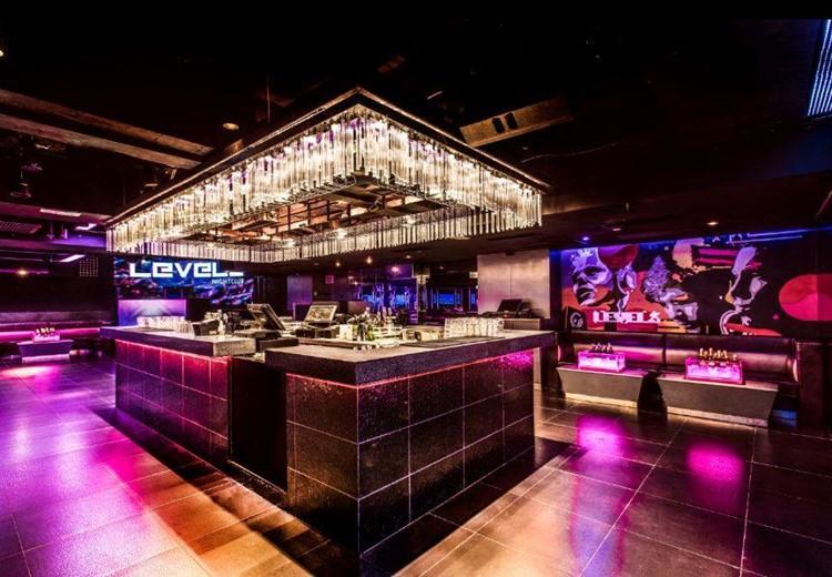 Levels nightclub Hong Kong interior square