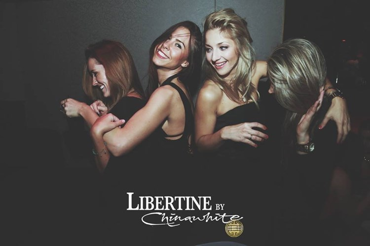 Party at Libertine VIP nightclub in London