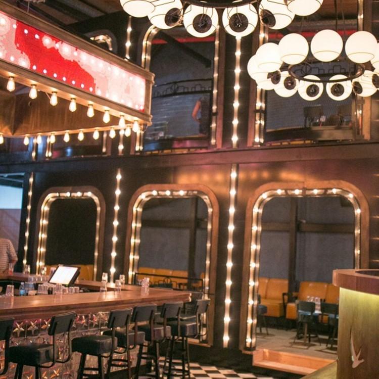 Lighthouse nightclub Tel Aviv bar view lights