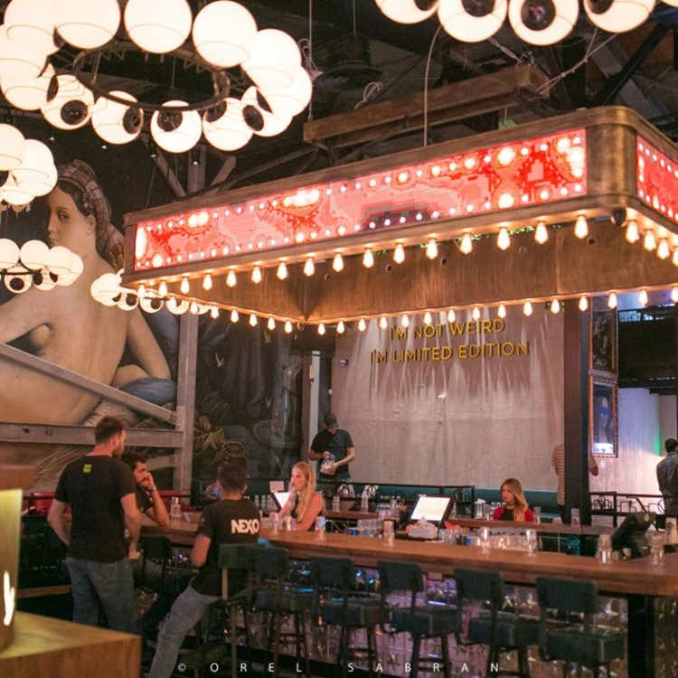 Lighthouse nightclub Tel Aviv bar view drinks