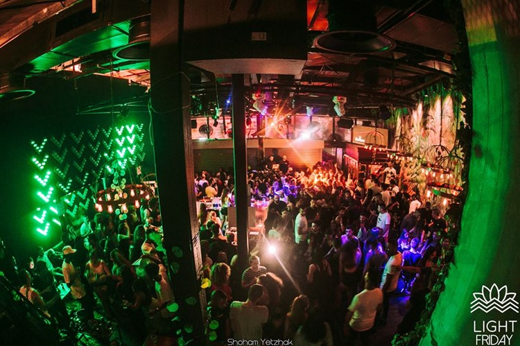 Light House nightclub Tel Aviv view of the club people dancing having fun drinking partying