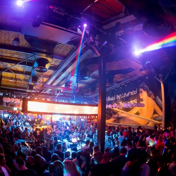 Lighthouse nightclub Tel Aviv view of the lights bar lounge area