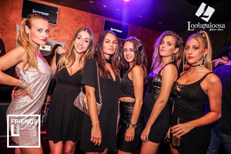 Loolapaloosa nightclub Milan party sexy blonde girls partying