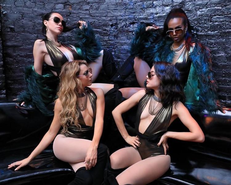 Love and Propaganda nightclub San Francisco sexy dancers show girls lingerie bodysuits