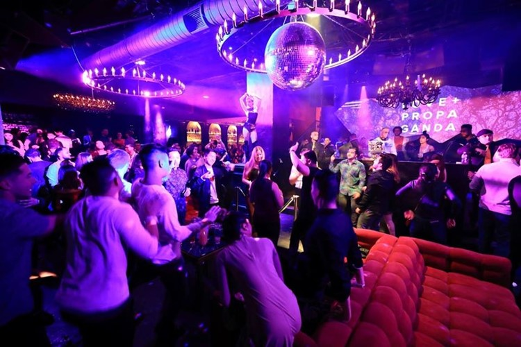 Love and Propaganda nightclub San Francisco event party show lights people partying having fun