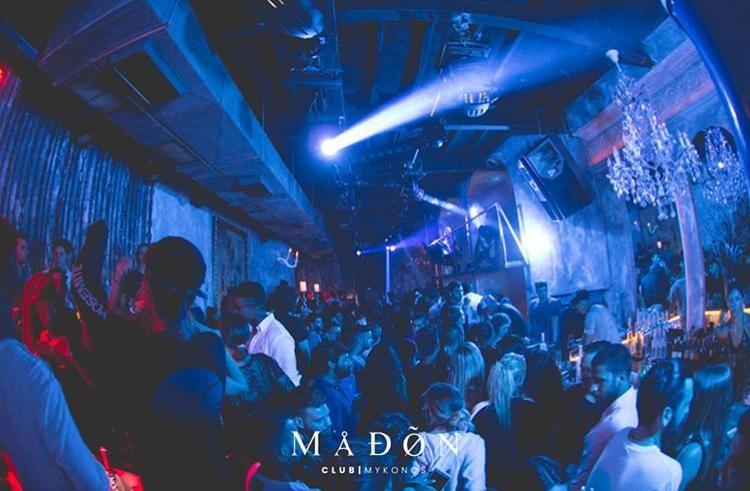Madon nightclub Mykonos guests enjoying big party