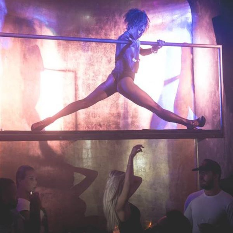 Madon nightclub Mykonos exotic dancer on stage