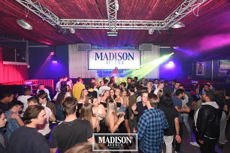 Madison Avenue Club nightclub Cape Town dj mixing music crowd partying