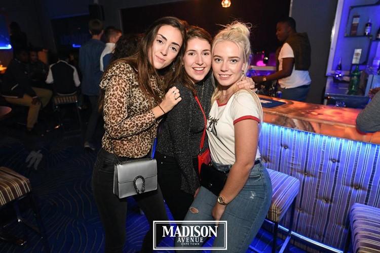 Madison Avenue Club nightclub Cape Town girls drinking alcohol