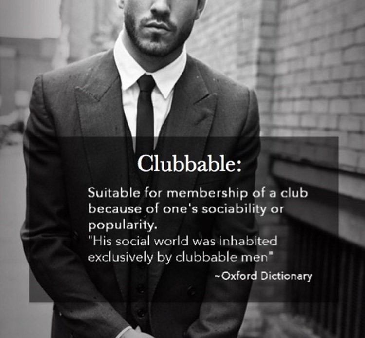 Meaning of Clubbable