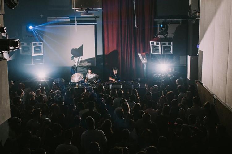 Ministerium nightclub Lisbon crowd dancing having fun at party