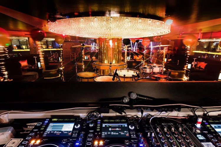 Party at Mirage VIP nightclub in Marbella