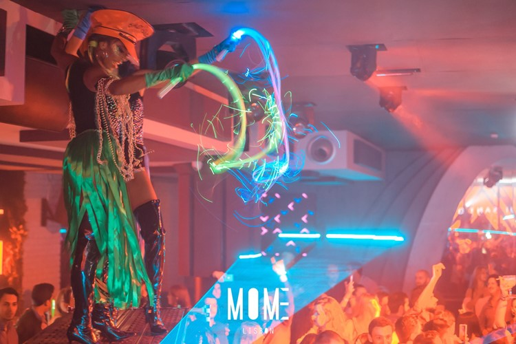 Mome nightclub Lisbon exotic dancers lights show party