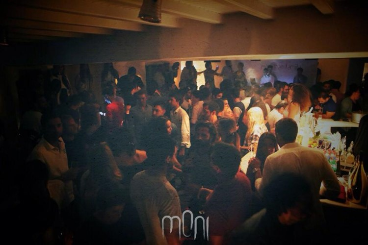Moni nightclub Mykonos people having fun and dancing