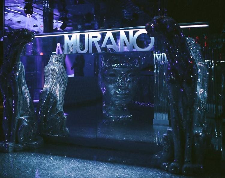 Murano nightclub Los Angeles view of the statues club interior