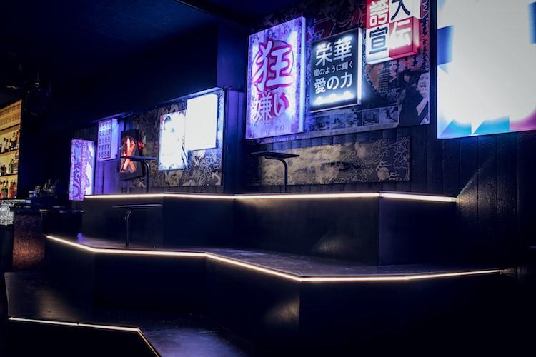 Interior at Ochaya nightclub in Kasai in Stockholm Sweden