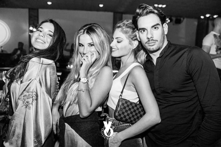Olivia Valere nightclub Marbella blonde and brunette girls having fun with arabic man