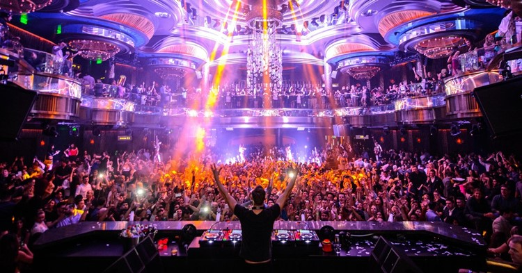 Party at Omnia VIP nightclub in Las Vegas