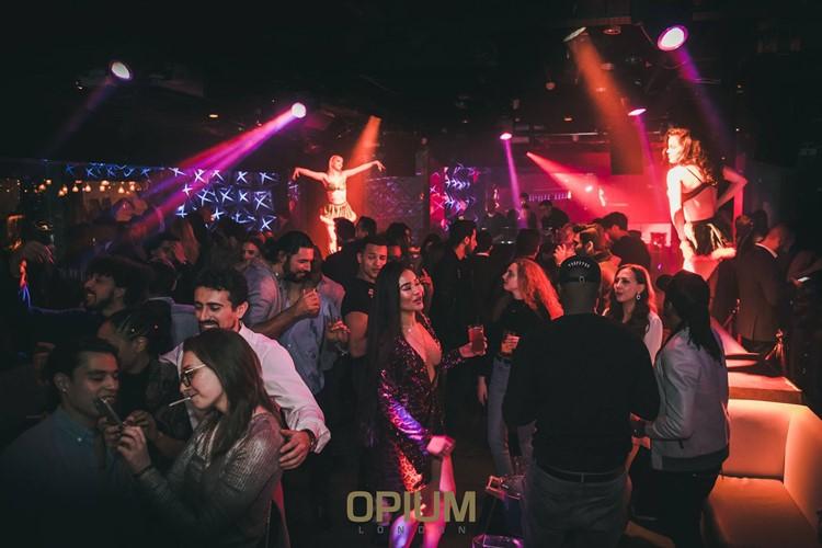 Opium nightclub London fun party night people crowd dance floor