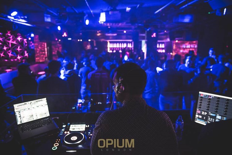 Opium nightclub London dj mixing music fun party techno crowd