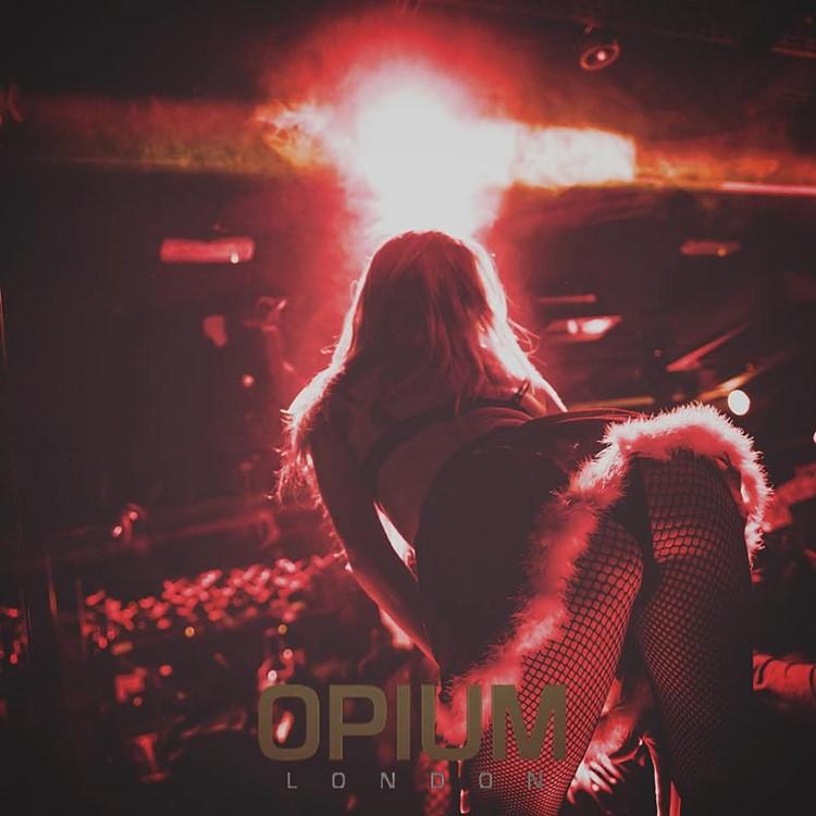 Opium nightclub London sexy exotic dancer pole dancing costume stage