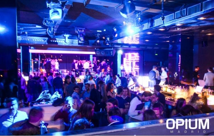 Party at Opium VIP nightclub in Madrid