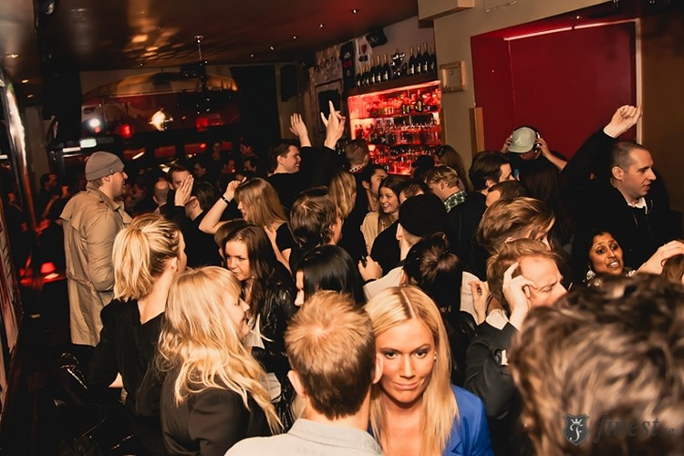 Party at Oxid VIP nightclub in Stockholm