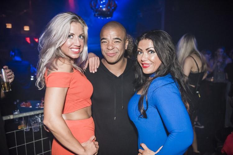 Panama Club nightclub Amsterdam dj with two blonde and brunette women