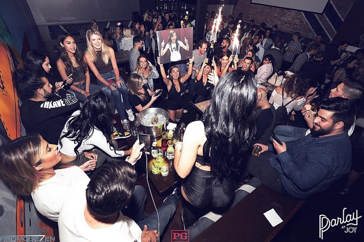 Parlay sports club Chicago table booking party celebration fun party