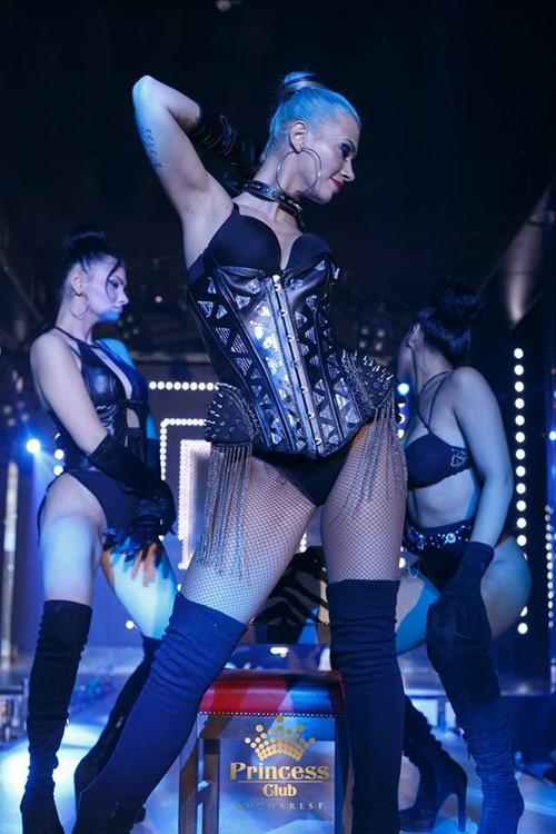 Princess Club nightclub Bucharest sexy exotic dancers on stage striptease show