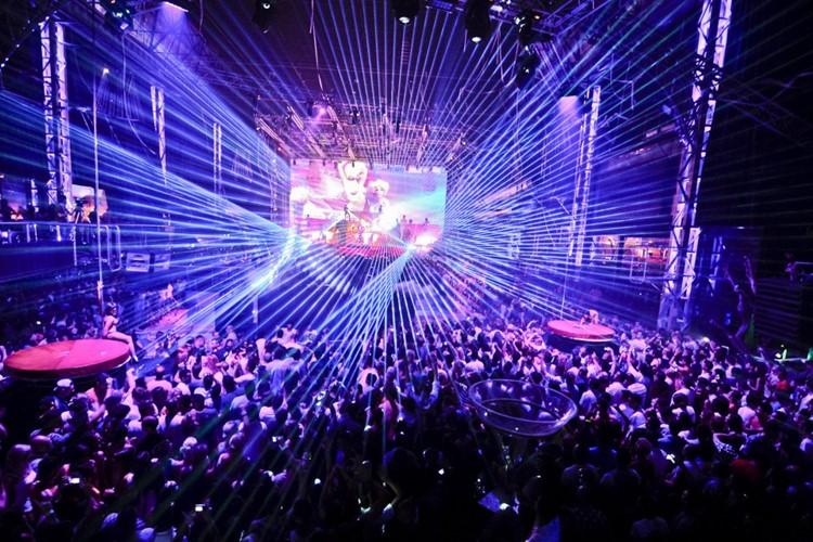 Privilege nightclub Ibiza magic lights show