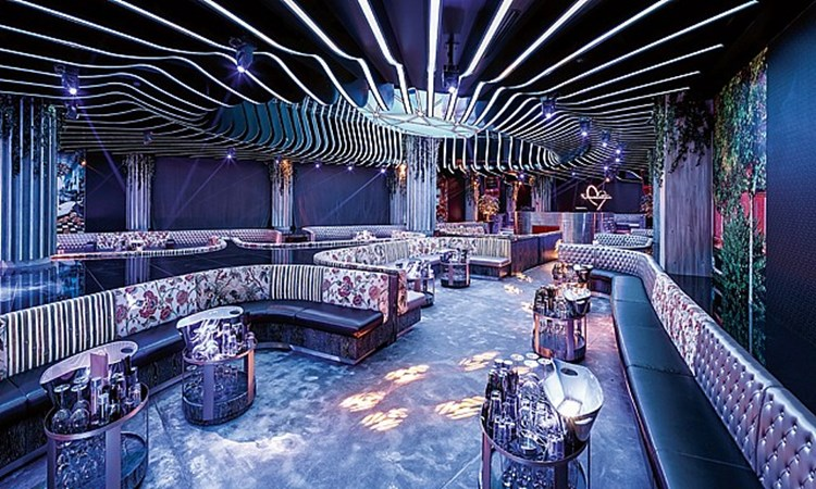 Party at Provocateur VIP nightclub in Dubai