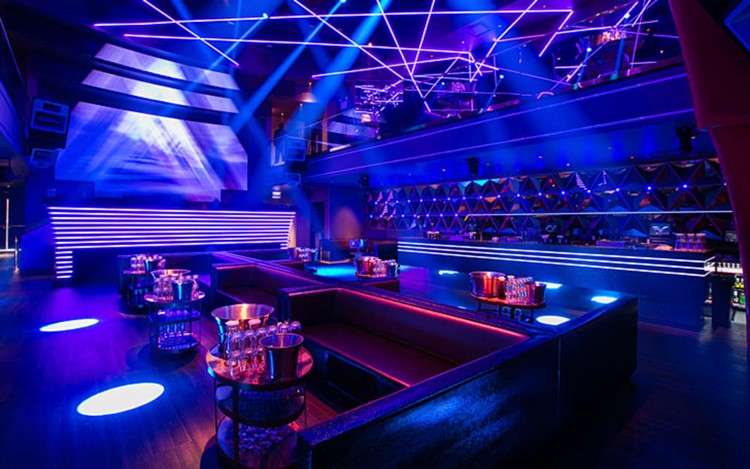Prysm nightclub Chicago lounge area table booking