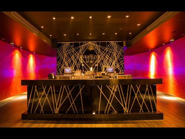 Prysm nightclub Chicago bar area luxury interior design