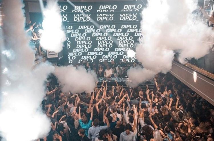 Prysm nightclub Chicago crowd having fun at big party event Diplo show