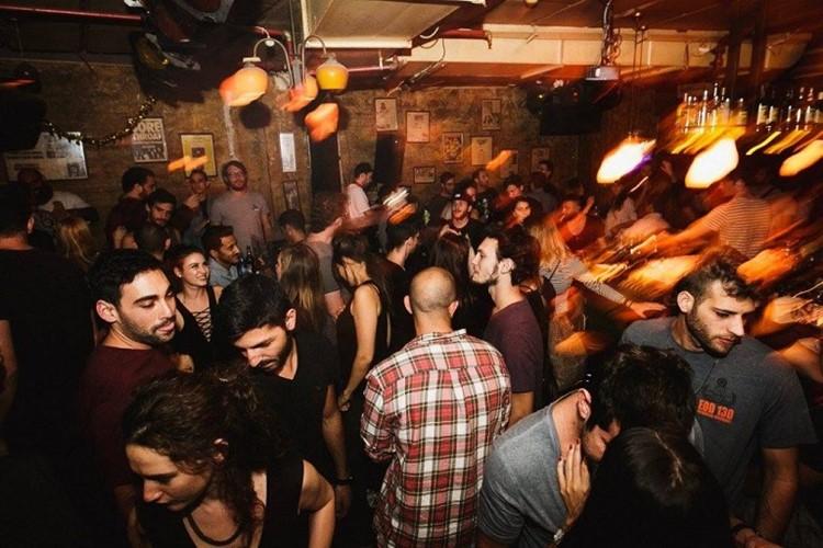 Radio EPGB nightclub Tel Aviv crowd drinking partying