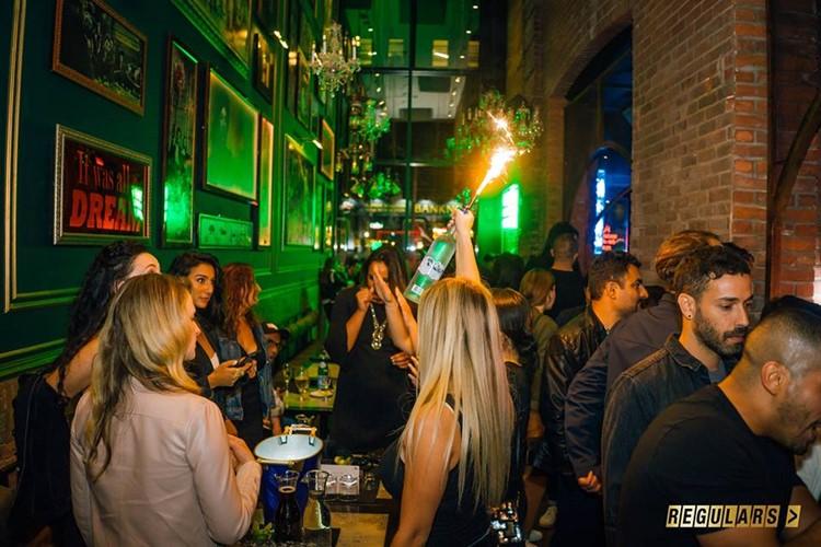 Regulars Bar club Toronto crowd partying having fun