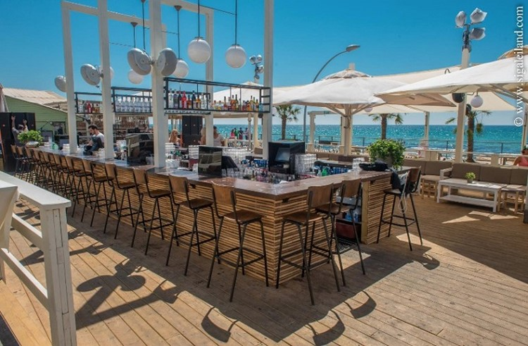 Shalvata nightclub Tel Aviv view of the bar beach club