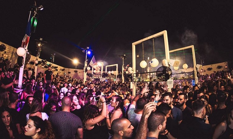 Shalvata nightclub Tel Aviv party at night crowd