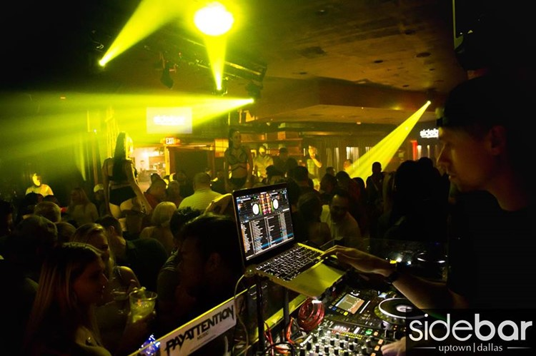 Sidebar Club nightclub Dallas party dj music dance floor