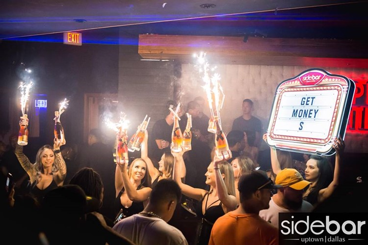 Sidebar Club nightclub Dallas bottle service alcohol party