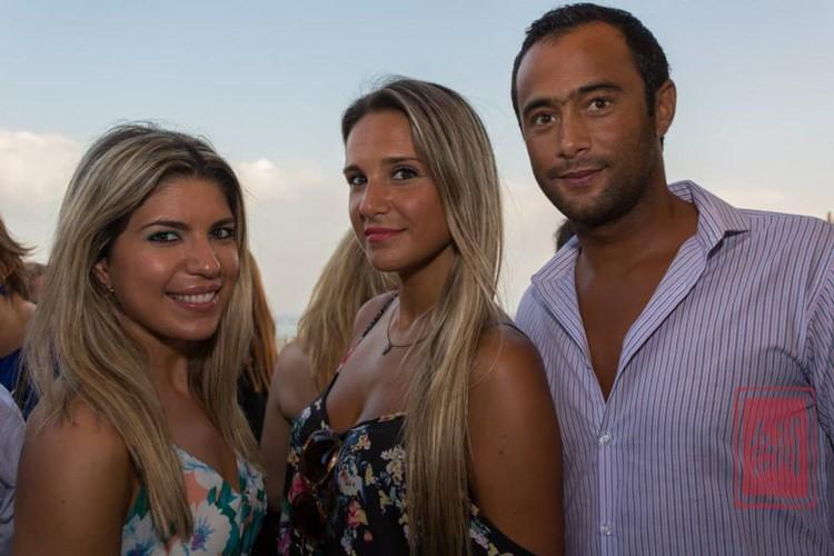 Silk Club nightclub Lisbon two blonde girls and man drinking